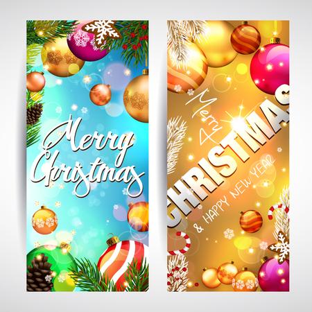 christmas greeting: Pretty christmas greeting cards Illustration