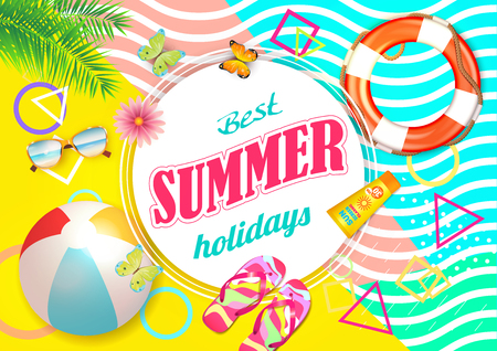 Summer Holidays Background Vector.
