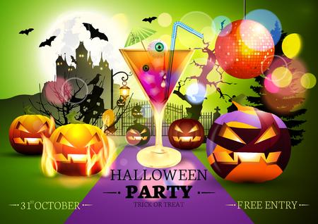 Halloween Party Vector Background