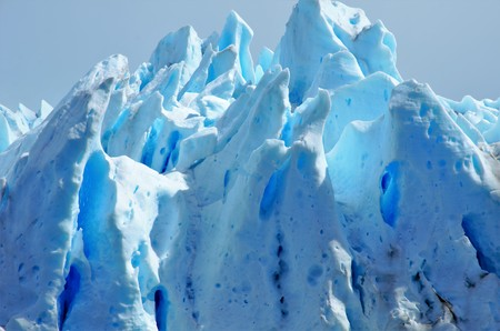 el calafate: Close-up of the Perito Moreno glacier in El Calafate, Argentina Stock Photo
