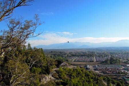 Panoramic view from cerro de la Gloria a hill in Mendoza, Argentina, South America