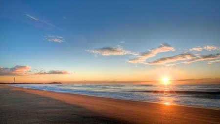 beach sunset: Sunrise at Windang beach