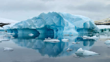 grounded: Grounded iceberg in Antarctica