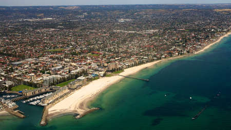 Aerial view of Glenelg beach photo