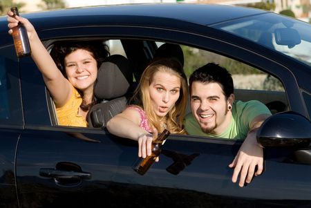underage drinking and driving, with designated driver photo