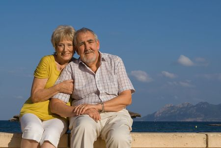 happy smiling senior couple Stock Photo - 2592561