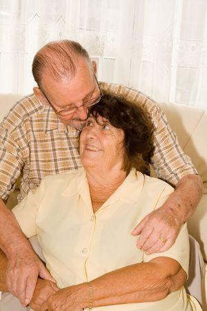 happy loving senior couple Stock Photo - 2634709
