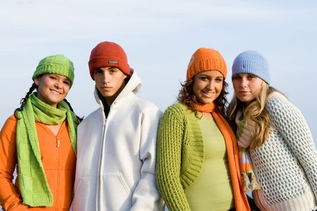 group of teenage friends Stock Photo - 2634706