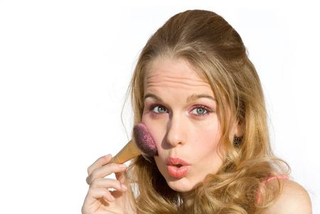 bimbo: make up Stock Photo