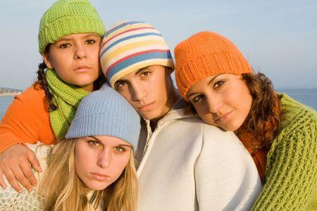 group of beautiful youth photo
