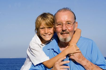 grandfather and grandson Stock Photo - 2652410