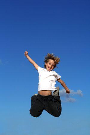 bounce: happy kid jumping