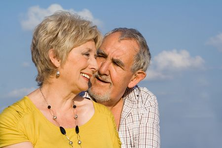 happy, loving senior  couple Stock Photo - 2689318