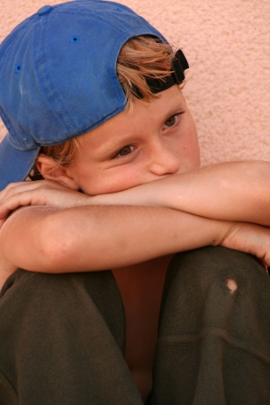 sad lonely street kid