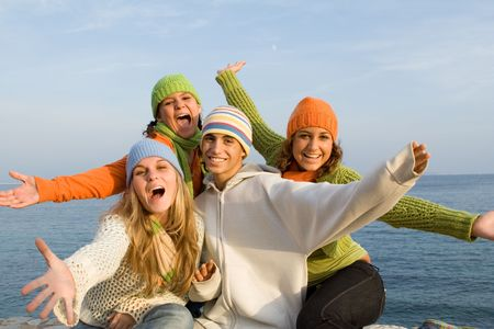 group of happy teens Stock Photo - 2697768