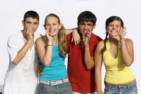 group of happy teens Stock Photo - 2697734