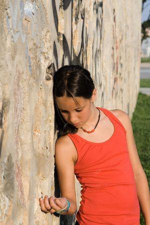 friendless: sad lonely child