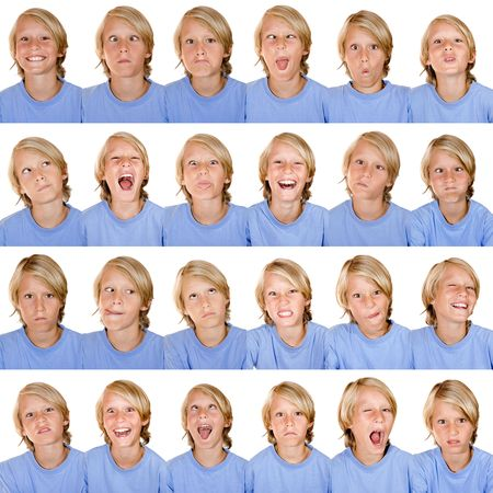 multi facial expressions photo