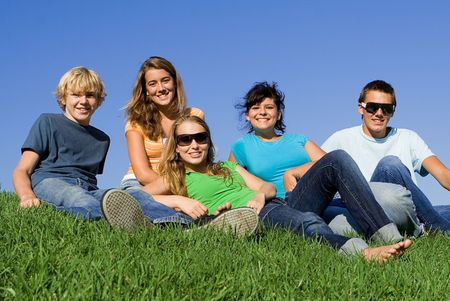 group of youth hanging out Stock Photo - 3490897
