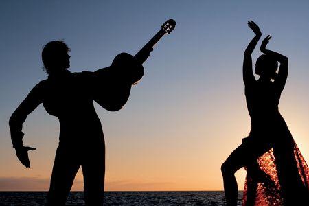 spanish dancers Stock Photo
