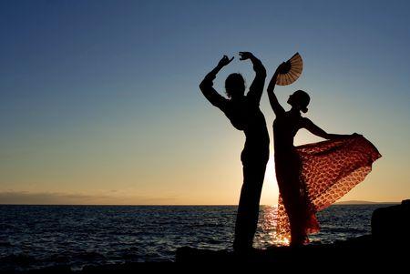 spanish dancers Foto de archivo