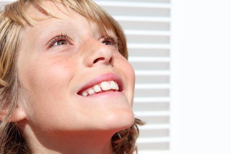 tween boy: happy smiling boy child Stock Photo