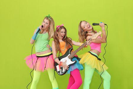 Grupo de canto adolescente