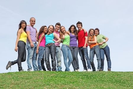 group of teens at summer camp Stock Photo - 7159710