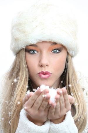 winter christmas woman Stock Photo - 8343788