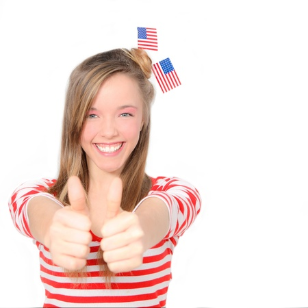 patriotic american teen photo