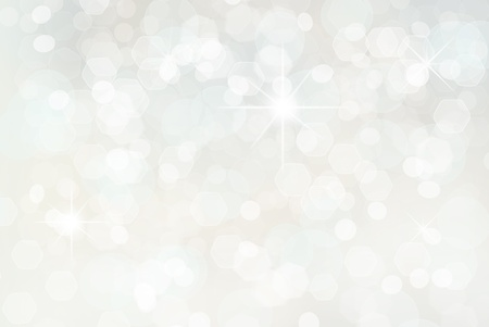 silver stars: white christmas holiday background.