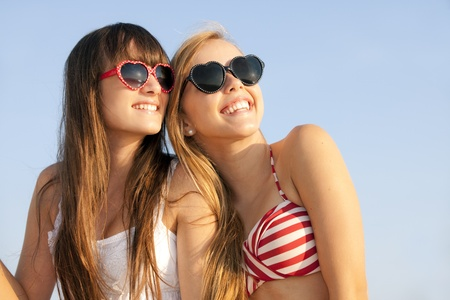 teens on summer vacation or spring break Stock Photo