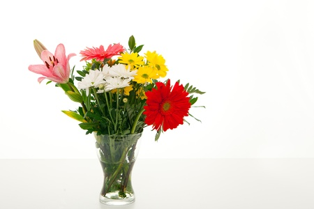 glass vase of flowers photo