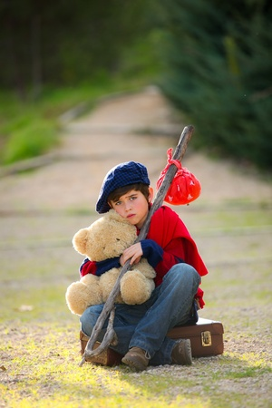 sad lonely unhappy child concept Stock Photo - 13585641