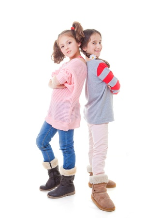 girl boots: fashion kids happy smiling girl friends