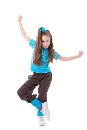 hip hop dancing: dance child dancing and balance Stock Photo