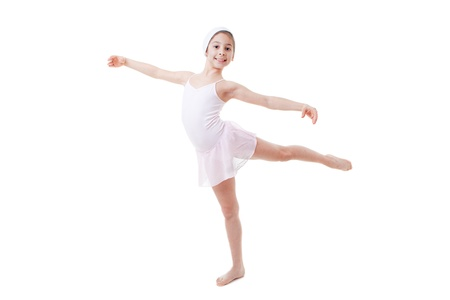 child ballet pose, ballerina dancing Stock Photo