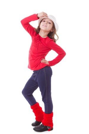 dancing pose: modern dance kid child or girl