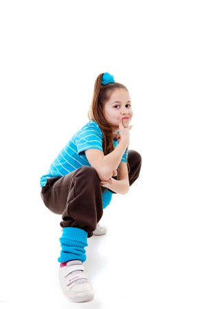 cool kids: cool confident kid child or girl Stock Photo