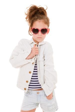 cool girl: cool fashionalbe fashion kid with attitude