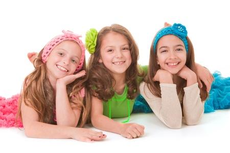 cintillos: grupo de sonrisa feliz de los niños, los niños o las niñas
