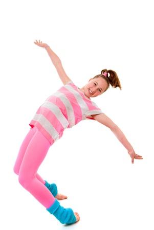 baile hip hop: el equilibrio, la bailarina bailar�n Foto de archivo