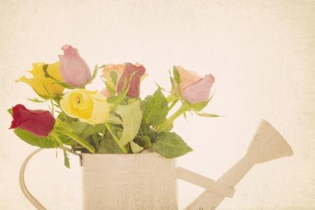 filtered: retro filtrado rosas arreglos florales
