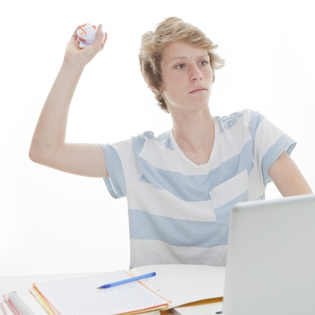 disruptive: disruptive student throwing paper in class