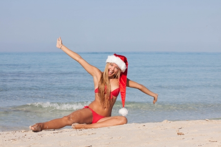 christmas holiday vacation at the beach photo