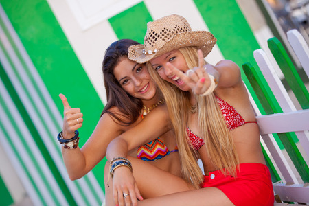 Teenager im Urlaub oder Urlaub