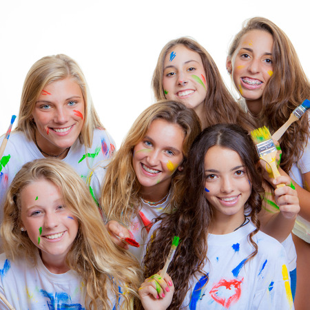 fun with paint at summer camp