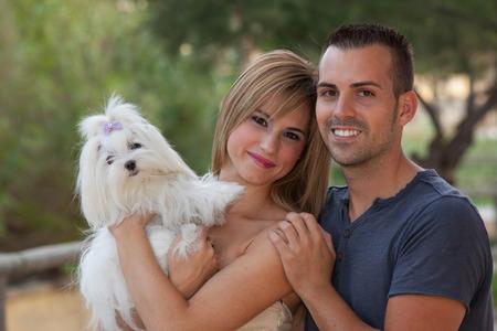 fem: family pet maltese dog