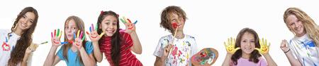 kids art and craft classes or summer school Standard-Bild