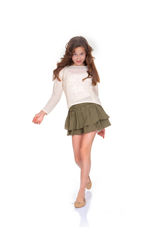 young trendy child fashion model